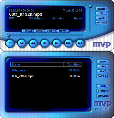 MVP QDesign Audio Player