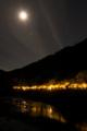 京都新聞写真コンテスト 燃える川、照らす月