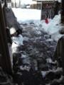 起きたら玄関先を雪かき
