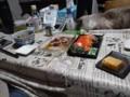 夕飯。刺身、漬け丼など