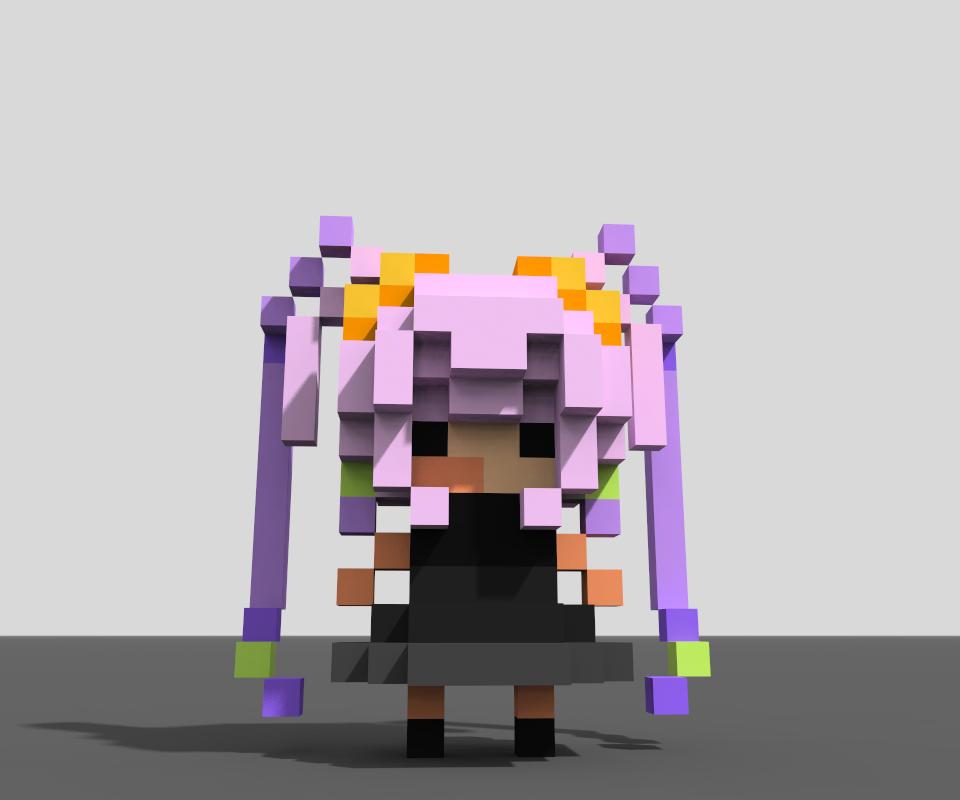 MagicaVoxel ボクセルモデル