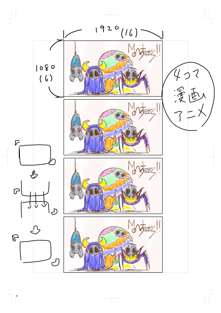 自主制作アニメ「MONSTERS!!」企画案