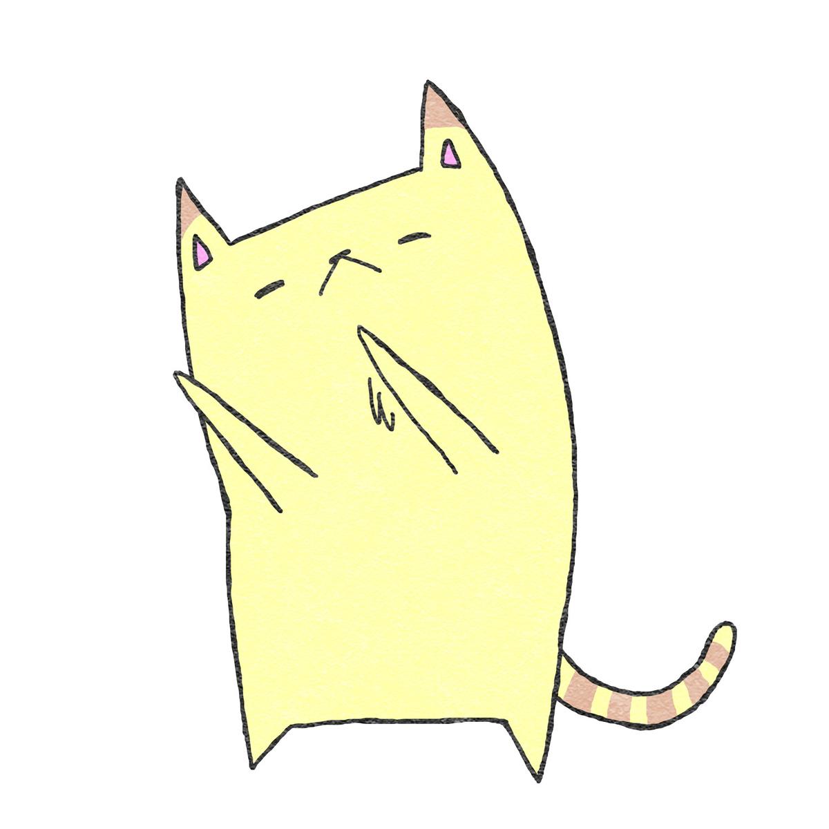 かわいいネコのフリーイラスト素材