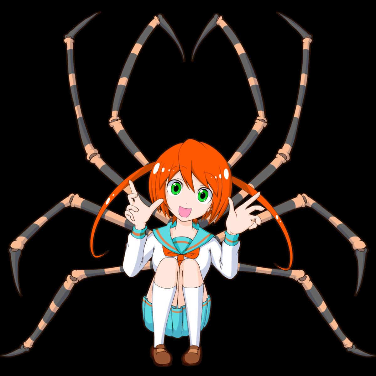 ゲーム用 フリー素材 敵キャラ クモ娘