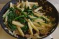[いただきました]アスパラガスとほうれん草の炒め物