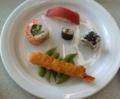 [いただきました]学食の寿司