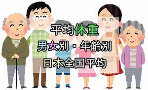 平均身長 平均体重 男女別 年齢別 日本の全国平均 最新データ