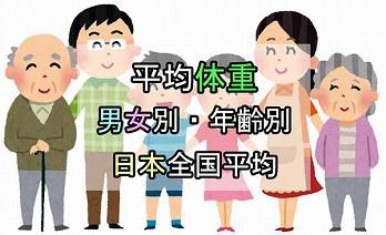 平均身長 平均体重【男女別 年齢別 日本人】