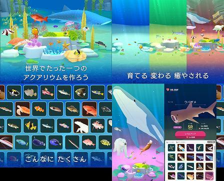 ポケットアクアリウム ゲームプレイシーン画像