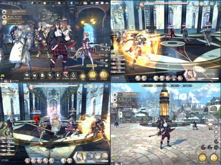 エグゾスヒーローズのゲームプレイ画像