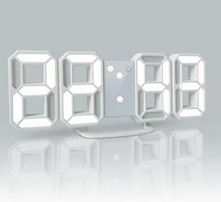 YABAE デジタル時計 LEDデジタル 目覚まし時計 時計 壁掛け可能 3D led