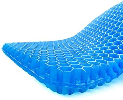 チチロバ(TITIROBA) ゲルクッション 二重 無重力 クッション 腰楽クッション 座布団 体圧分散 通気性 ハニカム構造 蒸れない 座り心地