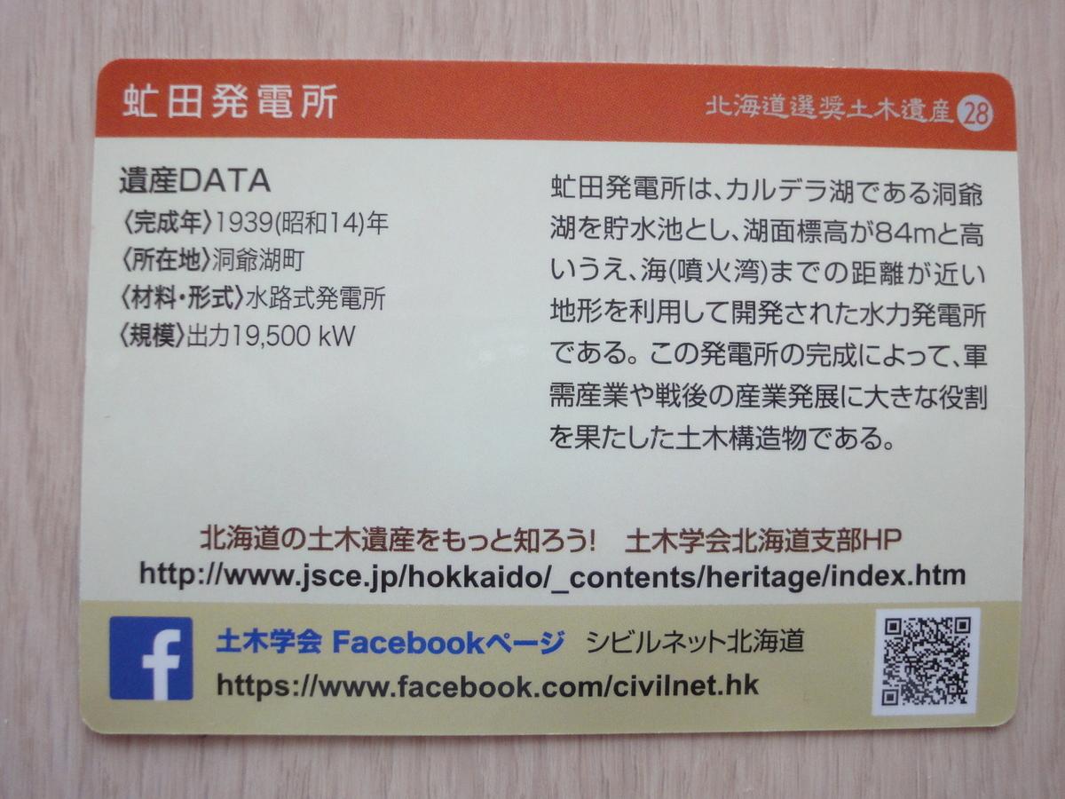 土木遺産カード 虻田発電所