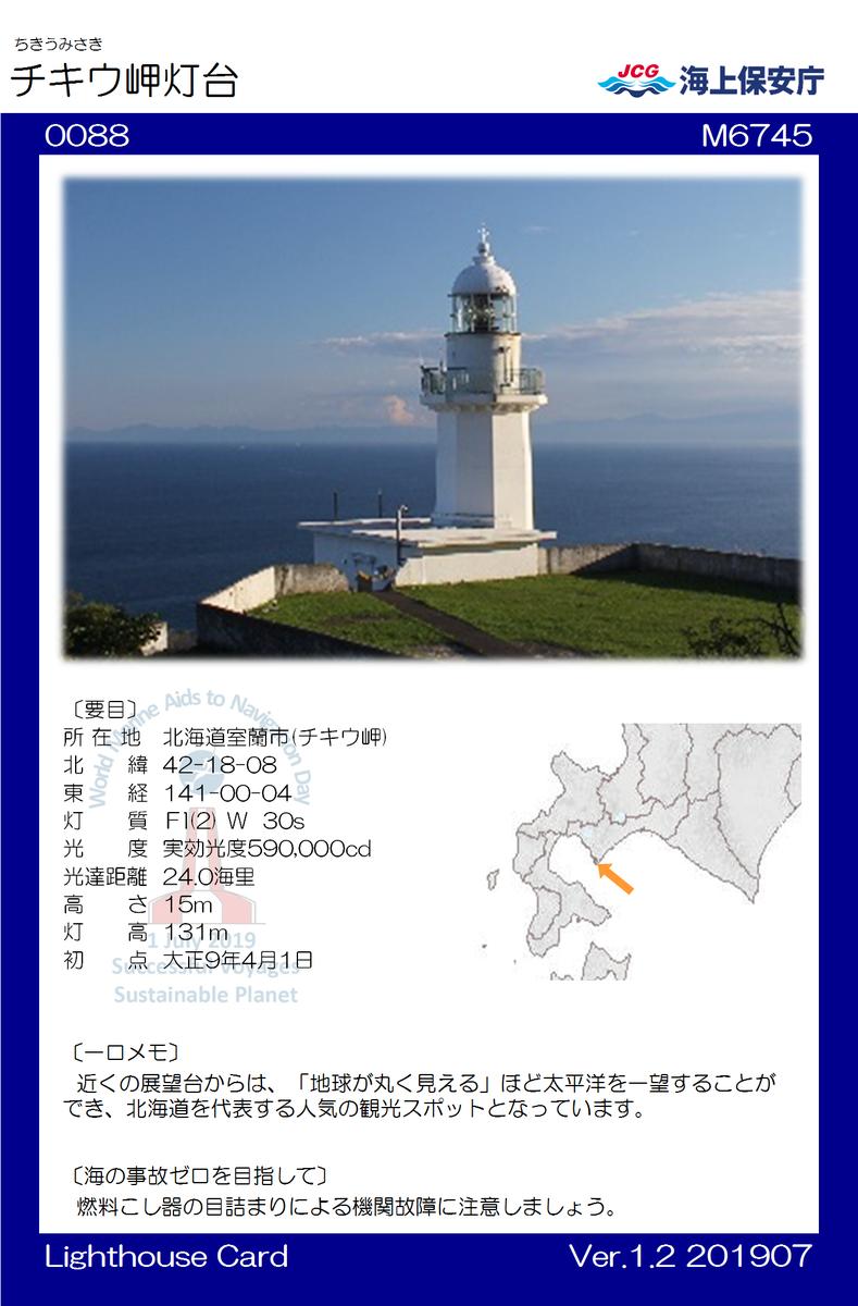 地球岬 灯台カード