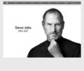 Steve Jobs, 1955 - 2011 by Apple