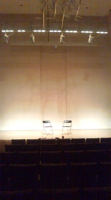 [演奏会] マンドリンの室内楽コンサート リハ中のステージ