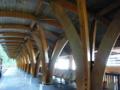 阿里山森林鉄道の駅。総ヒノキ造りでいい香り