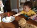 140903食パンケーキでお祝い