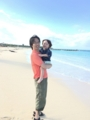 160920きれいな海と砂浜(台風で遊泳禁止)