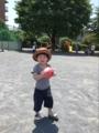 170610 帽子かぶってボール遊び