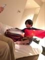 171225ホテルにサンタさん来てくれた