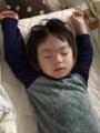 180620赤ちゃんの頃と同じ寝方