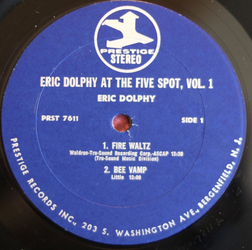 Eric Dolphy At The Five Spot Vol 1 1961 ドルフィーの管の響き、マル