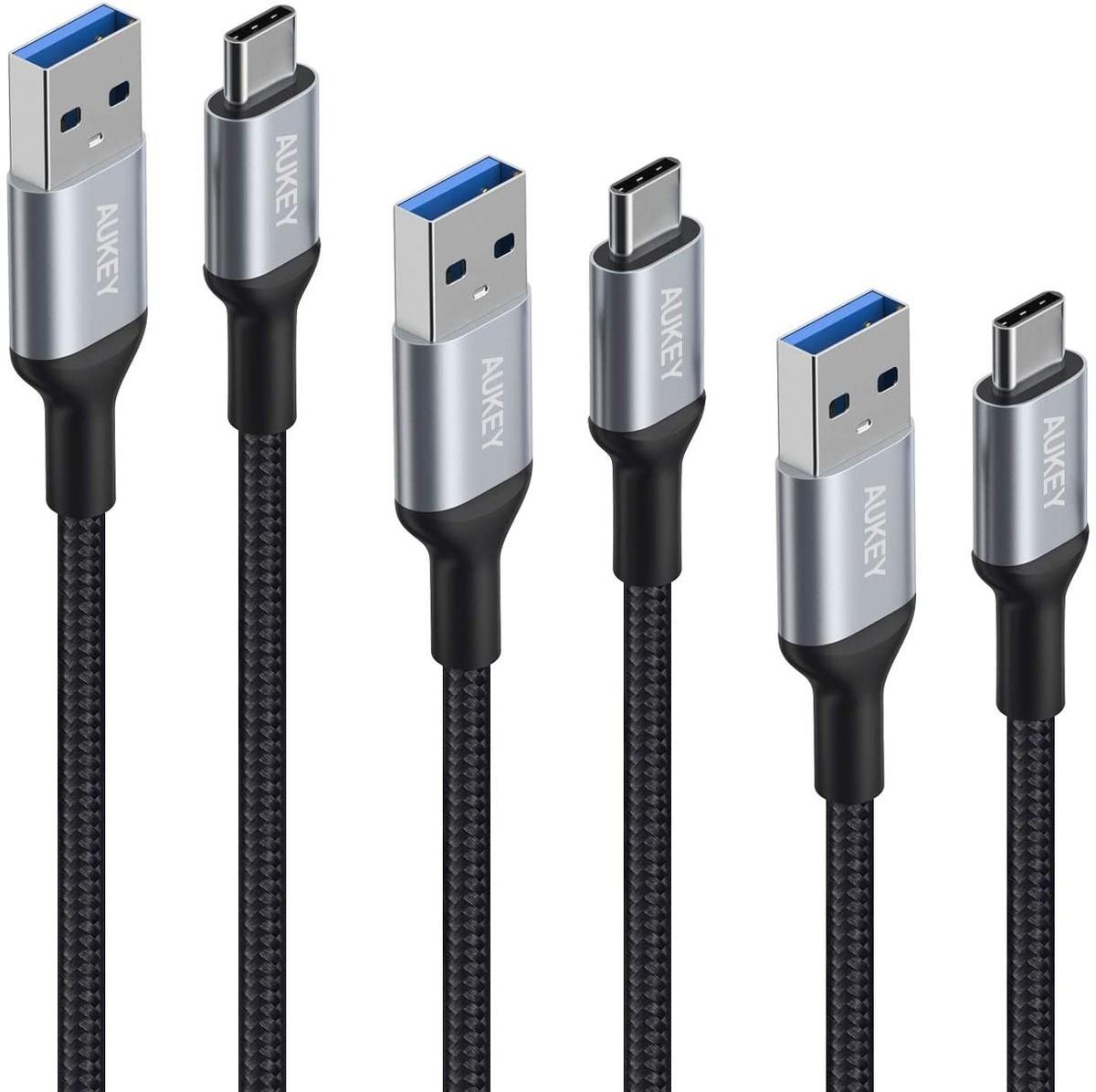 AUKEY USB Type-Cケーブル 3本セット