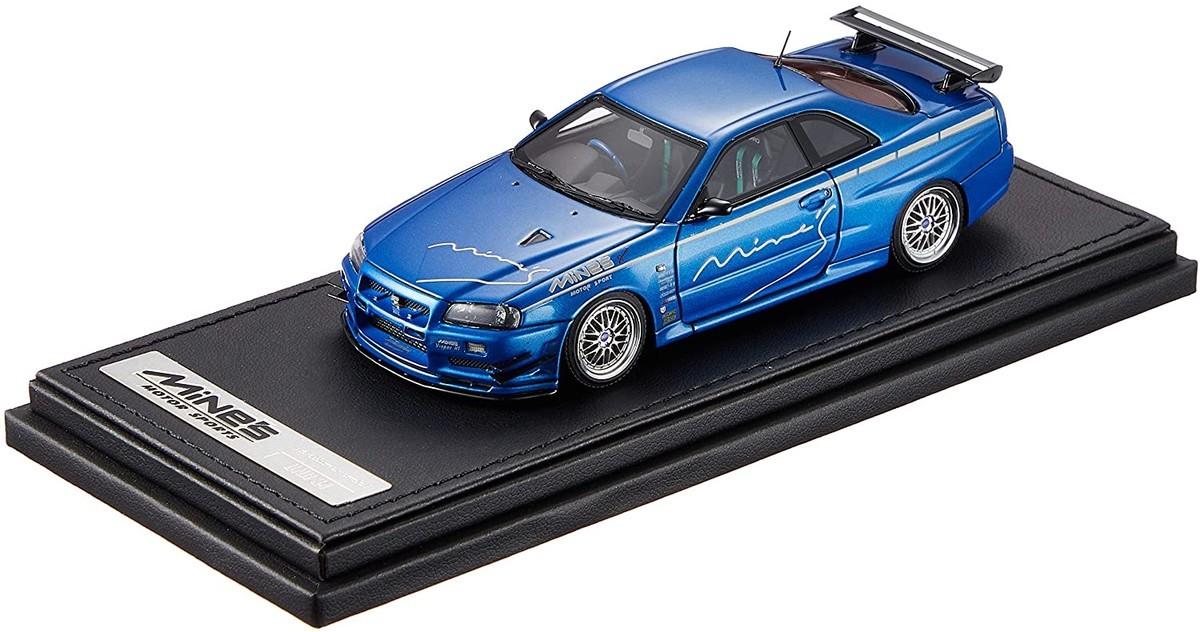 イグニッションモデル 1/43 ニッサン スカイライン GT-R Mine's (R34) ベイサイド ブルー