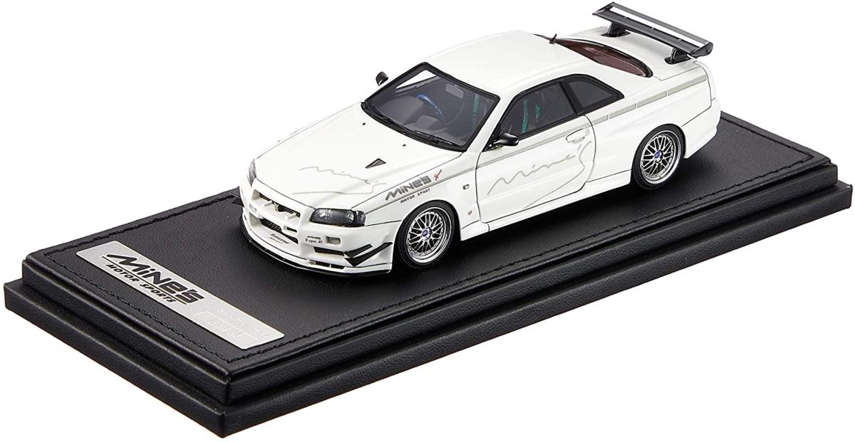 イグニッションモデル 1/43 ニッサン スカイライン GT-R Mine's (R34) ホワイト
