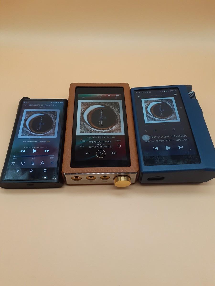 左からFiiO M15、iBasso DX220MAX、Astell&Kern KANN CUBE