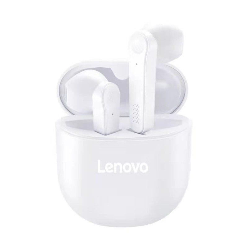 Gearbest Lenovo PD1 TWSイヤホンヘッドフォンBluetooth 5.0ステレオベースミュージックイヤホン本物のワイヤレススポーツゲームノイズキャンセリングヘッドフォンHDマイクロフォン - ミルクホワイト