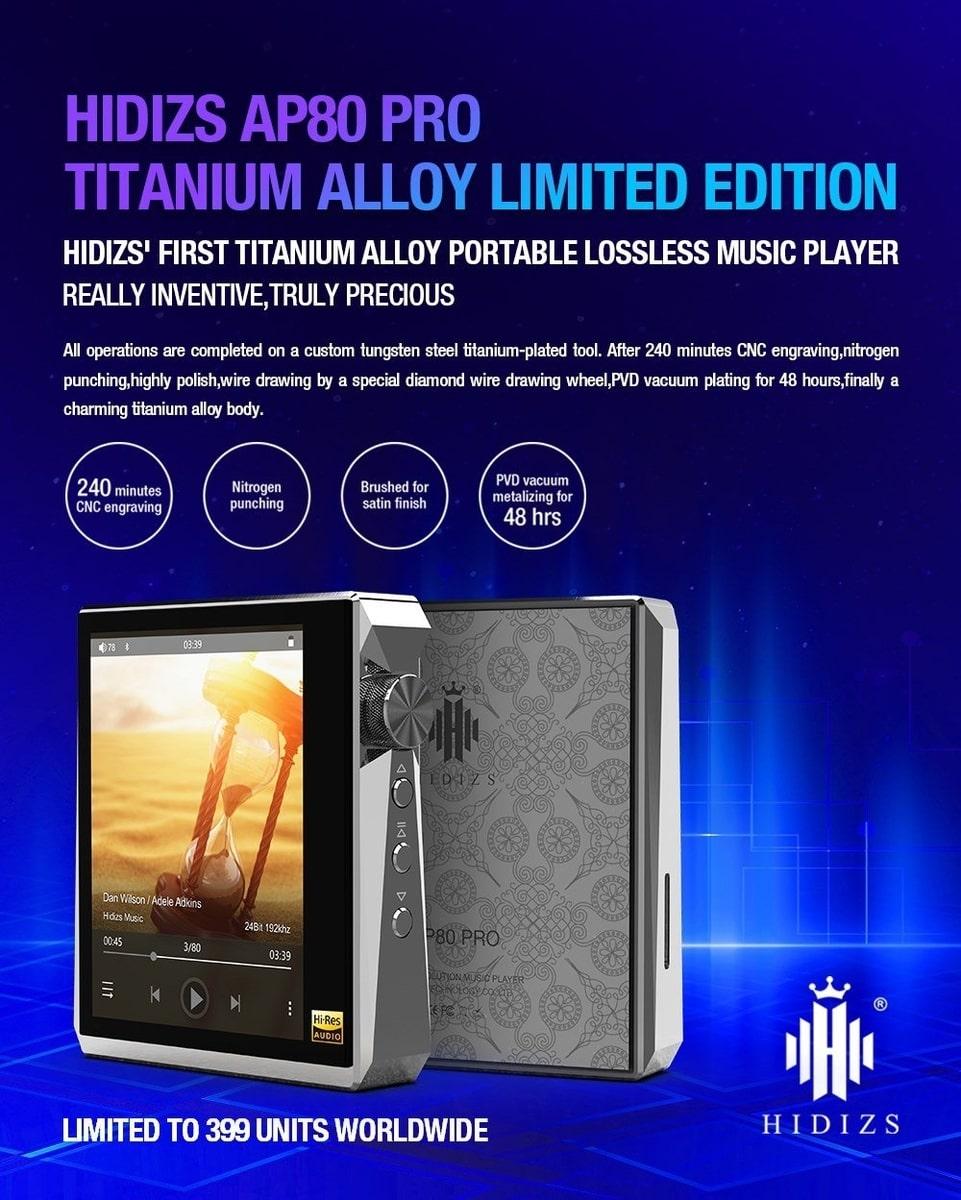 Hidizs AP80 Pro Titanium Alloy Limited Edition