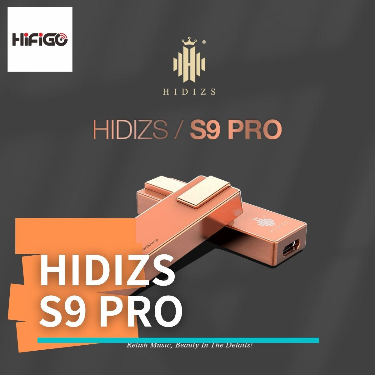 【HiFiGOニュース】Hidizs S9 Pro Red Copper Limited Edition:全世界で500台のみの限定販売