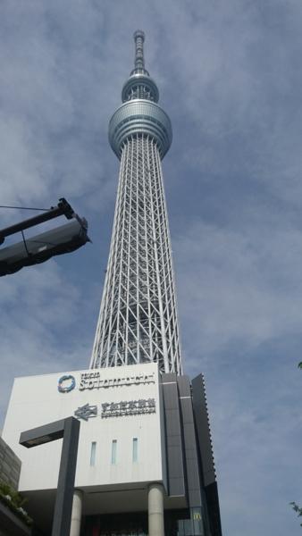 東京スカイツリーを間近で
