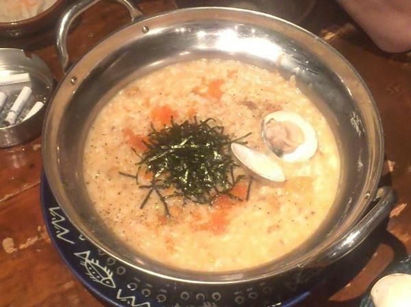 雲丹鍋の雑炊