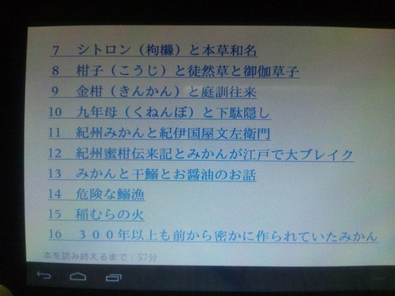 indleアプリを入れたタブレット