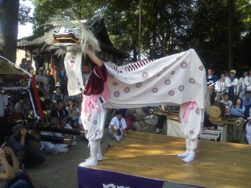 20131012 なでしこ獅子舞(高向神社)