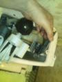 カップに付いたままの65mmのフロートゴム玉とストッパー