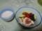 湯剥きしたミニトマトを高齢の両親のおやつに、甘酒と一緒に
