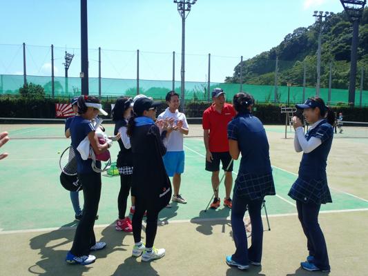 体験会に参加いただいたみなさんとスマートテニスセンサー担当チーム