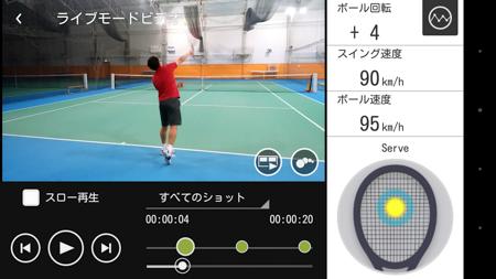 ライブモードビデオの動画でショットのデータをチェックしながら、フォームを確認