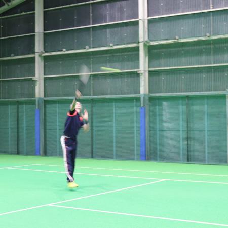 スマートテニスセンサーで練習モチベーションが維持できているというダバディ氏