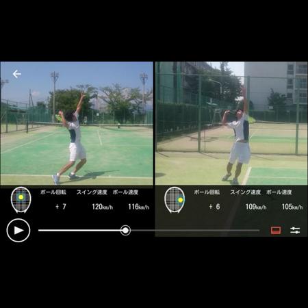 フォームチェックに役立つスマートテニスセンサー2画面比較機能アップデート!