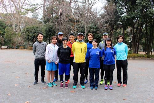 難民かけはしプロジェクト、金哲彦コーチとSONY Running TEAMとの合同練習会
