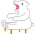 個人メモ:今思いついたシロクマ型椅子