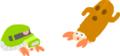 キャラクター案:自由なヤドカリ