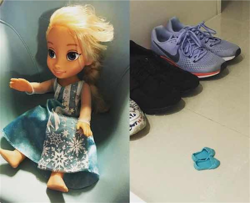 イ・ボヨンとチソンの子供がおもちゃの靴を玄関に置いたままに