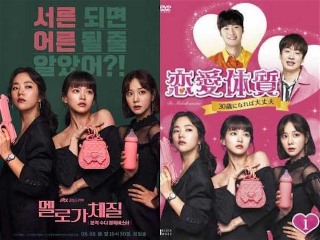 韓国と日本のポスターを比較|ドラマ【恋愛体質〜30歳になれば大丈夫〜】