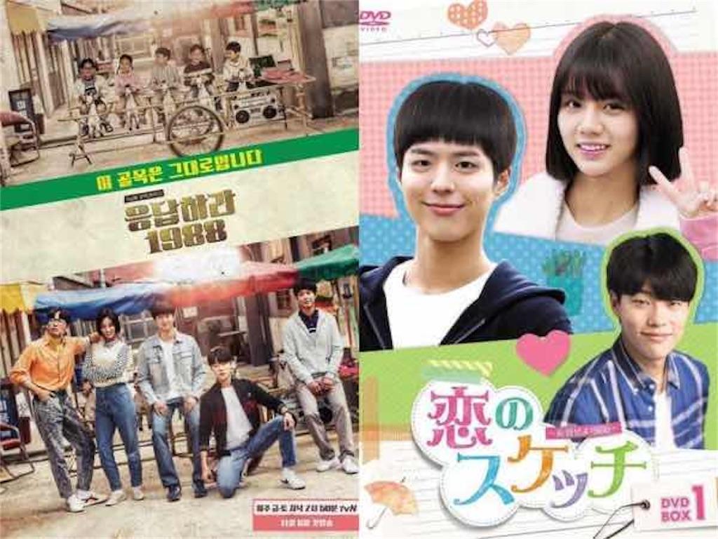 韓国と日本のポスターを比較|ドラマ【恋のスケッチ〜応答せよ1988〜】